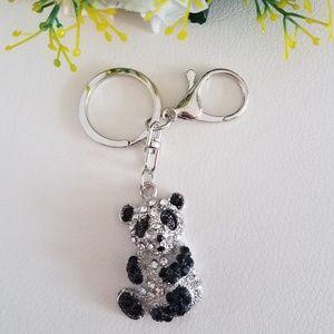 Silver Panda Keychain